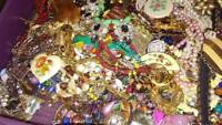 Estate Jewelry Lot ALL GOOD Wearable Resell Vintage Now 12+ Pcs Brooch Earring