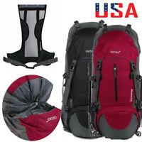 Large Travel Backpack Daypack Rucksack Bag Waterproof Outdoor Hiking Camping 60L