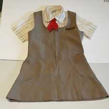 Vintage Brownie Uniform Girl Scouts Of America Jumper size 8, Shirt Size 7 & Tie