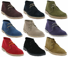 Roamers Classic Suede Desert Boots Womens Real Leather Ankle Boots Shoes UK3-8
