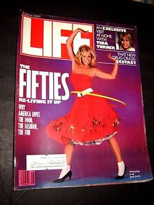 Life Magazine August 1985 The Fifties Re-living it Up, Tina Turner