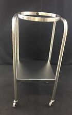 NEW MEDICHOICE Stainless Steel Rolling Single Basin Stand w/Shelf BAST1001