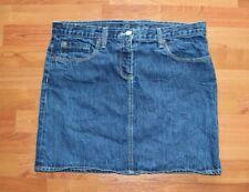 J.Crew Mini Jean Skirt Size 30 Blue Denim Wrinkled Look Back Pockets