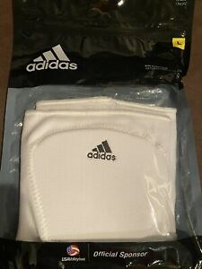 Adidas Adult Large 5-inch White Knee Pads, Retails For $25