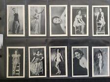 More details for r & j hill 'modern beauties' 1939 cigarette cards full set 50 exc cdn