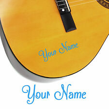 2 x Guitar Name Stickers - Personalised Acoustic Electric - Shack Style