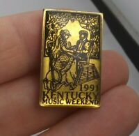 Vintage 1991 Kentucky MUSIC WEEKEND pin button pinback banjo style *EE93