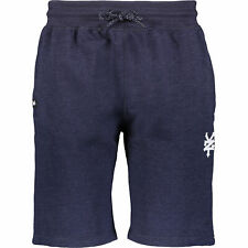 New ZOO YORK Premium Navy Marl Blue Jersey Casual Sports Slim Sweat Shorts Small