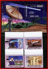 SIERRA LEONE 1986 HALLEY'S COMET + S/S SC#813-17 CV$14.55 SPACE (E-B5)