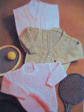 Baby Boys Cable Cardigan Sweater Jumper Waistcoat KNITTING PATTERN DK 20 - 28in