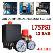 175PSI Pressure Switch Air Valve Manifold Compressor Control Regulator Gauges UK