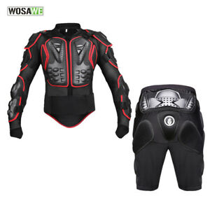 Motorcycle Jacket Body Armour Hip Protector Shorts Motocross Elbow Knee Brace