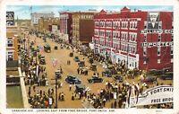Postcard Garrison Avenue Looking East Free Bridge Fort Smith Arkansas~129890