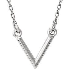 """V 16.5"""" Necklace In Platinum"""
