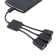 Dual Micro-USB Host OTG Hub Cable Adapter for Samsung Sony Android Phone Tablet