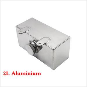 2L Windscreen Washer Bottle Aluminium Alloy Polished Intercooler Spray Tank