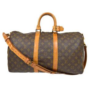 LOUIS VUITTON KEEPALL 45 BANDOULIERE TRAVEL HAND BAG MONOGRAM M41418 epl 38524