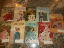 Lot Of 9 The Workbasket and Home Arts Magazine 1965 - Vintage Knitting Crochet