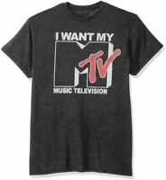 Men's Music Television I Want My MTV Retro Vintage Logo Licensed T-Shirt New