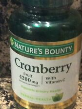Natures Bounty Cranberry with Vitamin C 4200 mg 250 Softgels FREE SHIPPING! Y95