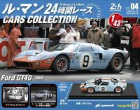 FORD GT40 1968 1/43 Model  Le Mans Cars Collection # 4  SPARK