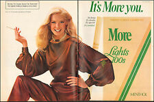 1983`Print ad for More Lights 100 Menthol Cigarettes`Sexy Model 2-pgs (103115)