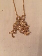"$kate spade Pave Swan Clear Pendant Necklace, 20"" + 3"" Extender #274"