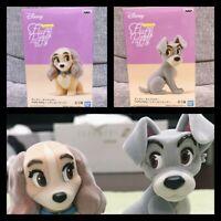 Banpresto Disney Fluffy Puffy Lady & Tramp Set Figure Figurine Doll Toy Japan