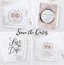 Personalised Wedding Save the Date Cards Invites Invitations with Envelopes