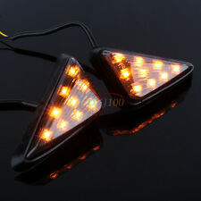 Hot Motorcycle Smoke lens Flush Mount LED Turn Signal Indicator Amber Light