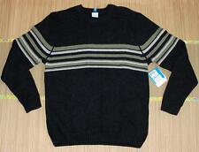 Columbia Men's Gentoo II Crew Thick Knit Sweater, L/XL/XXL Black - $80 NWT!
