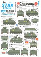 Star Decals 1/35 CAMBODIA M113 Armored Personnel Carriers in the 1970s