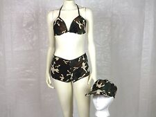 """Sexy """"BOOTY CAMP"""" CAMO Uniform 3 pc OUTFIT Military FULL COSTUME Womens MED"""