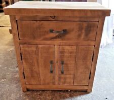 SOLID WOOD RUSTIC STORAGE CUPBOARD - BATHROOM UNIT - WOODEN UNIT - MADE TO ORDER
