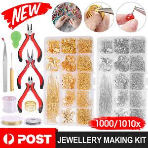 Jewellery Making Findings Kit DIY Wire Pliers Set Starter Tools Necklace Repair