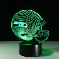 Seattle Seahawks LED Light Lamp Collectible Russell Wilson Home Decor Gift