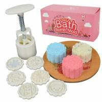 Bath Bomb Press - Diy Fizzy Lush Bath Bombs Tool Set For Women/Kids White