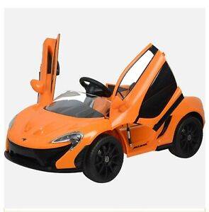 Kool Karz McLaren P1 Butterfly Doors 12V Electric Ride On Toy Car, Orange