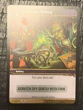 Fortune Telling World of Warcraft Loot Card WoW Dark Portal 3/3 Unused