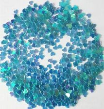 10g SMALL 6mm BLUE IRIDESCENT HEARTS SEQUINS/TABLE CONFETTI - CONTEMPORARY
