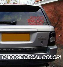 "Stop Wars 4"" Vinyl Sticker Decal car window bumper laptop usa star Choose Color!"