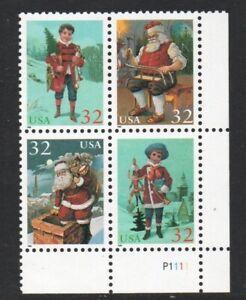 ALLYS STAMPS US Plate Block Scott #3004-7 32c Santa-Children [4] MNH F/VF [STK]