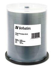 Verbatim CD-R White Inkjet Printable 52x 700MB 100-Pack Spindle