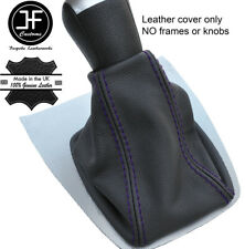 Purple Stitch Top Grain REAL LEATHER GEAR GAITER FITS FORD FOCUS C MAX 2003-2007