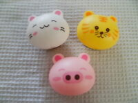 Cute Kitty Cat Toothbrush Holder w/Suction Cups Bathroom Novelty Gift Accessory