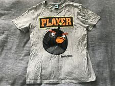 Mens Official ANGRY BIRDS Player iPhone Game Shirt Sleeve T Shirt Grey Size XL