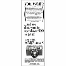 1964 Konica Auto-S: Fully Automatic CdS Electric Eye Vintage Print Ad