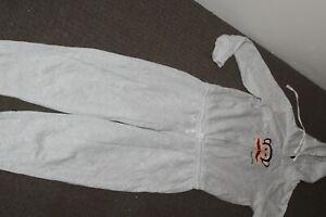 Paul Frank, Grey Jumpsuit, Front Zip and Tie Up, Womans Size 10, Box K1