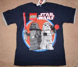 STAR WARS Lego *Duo* Navy Vintage S/S Tee T-Shirt Boys sz 10/12