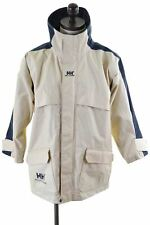 HELLY HANSEN Mens Rain Jacket Size 36 Small Beige Nylon  IP65